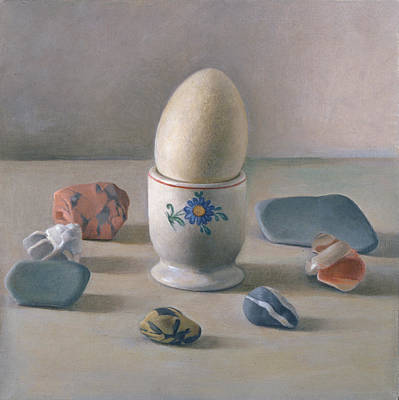 Eggcup Ritual Wc On Paper Poster by Tomar Levine