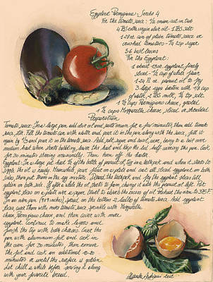 Eggplant Parmigiana Poster by Alessandra Andrisani