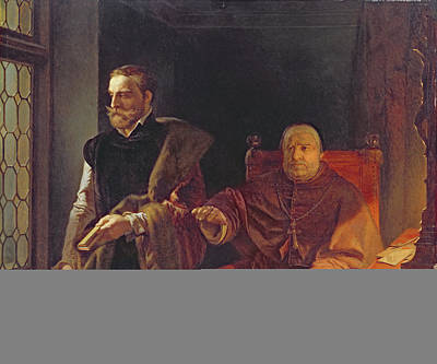 Egmonts Final Hour, After 1848 Oil On Panel Poster