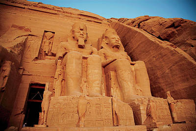 Egypt, Abu Simbel, The Greater Temple Poster by Miva Stock
