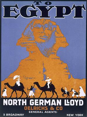 Egypt, Poster Advertising Norddeutscher Poster by English School