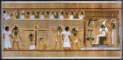 Egypt Weighing Of Souls Poster by Granger