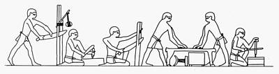 Egyptian Carpenters Poster by Granger