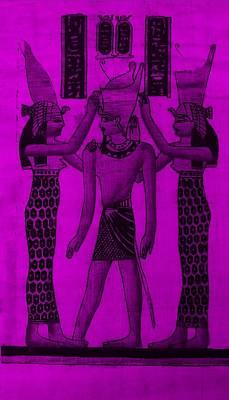 Pharaoh Atem Purple Poster by Rob Hans
