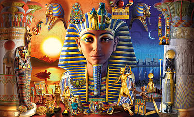 Egyptian Treasures II Poster by Andrew Farley