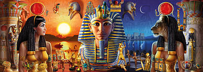Egyptian Triptych 2 Poster by Andrew Farley