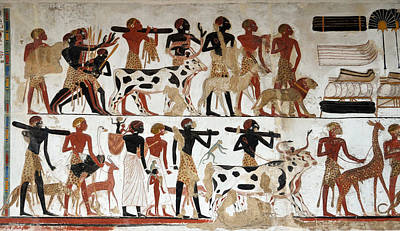Egyptian Wall Painting Of Temple Of Beit El-wali Poster