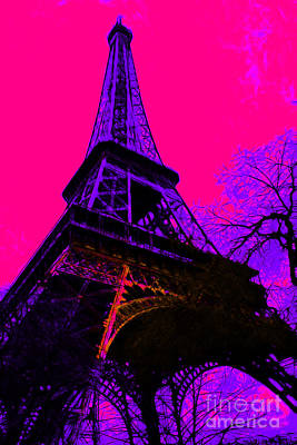 Eiffel 20130115v3 Poster by Wingsdomain Art and Photography