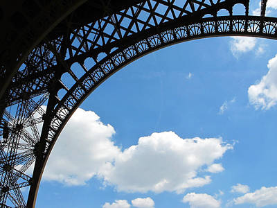 Eiffel Clouds Poster