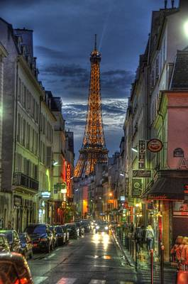 Eiffel Over Paris Poster