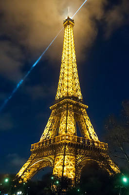 Poster featuring the photograph Eiffel Tower At Night by Avian Resources