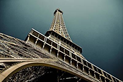 Eiffel Tower Blues Poster by Giuseppe SANSONNE