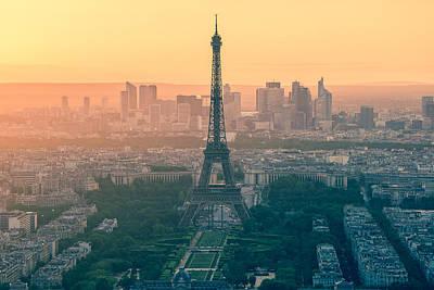 Eiffel Tower In Paris France Poster by Nattee Chalermtiragool