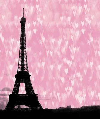 Eiffel Tower - Love In Paris Poster by Marianna Mills