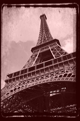 Eiffel Tower - Old Style Poster by Patricia Awapara