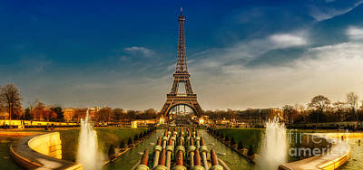 Eiffel Tower Panorama Poster by ARTSHOT  - Photographic Art