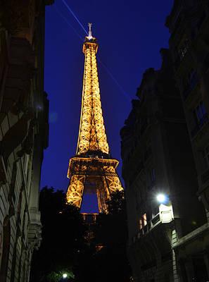 Eiffel Tower Paris France At Night Poster by Patricia Awapara