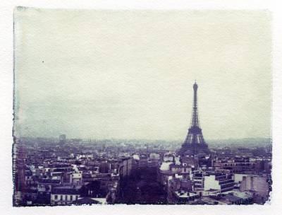 Eiffel Tower Paris Polaroid Transfer Poster by Jane Linders