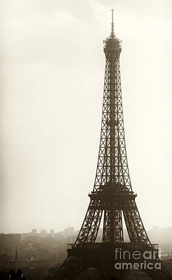 Eiffel Tower Silhouette Poster by John Rizzuto