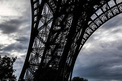 Poster featuring the photograph Eiffel Tower Storm by Ross Henton