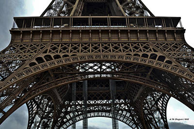 Poster featuring the photograph Eiffel Tower - The Forgotten Names by Allen Sheffield