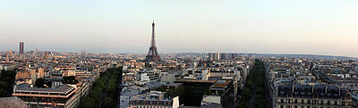 Eiffel Tower Viewed From Arc De Poster by Panoramic Images