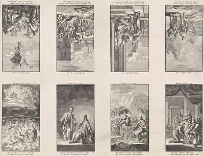 Eight New Testament Scenes On A Sheet, Jan Luyken Poster by Jan Luyken And Wed. Pieter Arentsz & Cornelis Van Der Sys (ii)