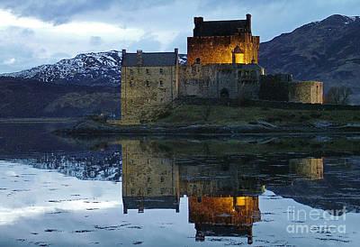 Eilean Donan Castle At Dusk Poster