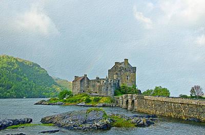 Eilean Donan Castle Textured 2 Poster