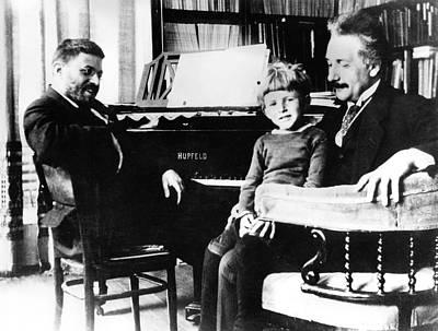 Einstein And Ehrenfest Poster