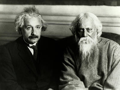 Einstein And Tagore Poster by Emilio Segre Visual Archives/american Institute Of Physics