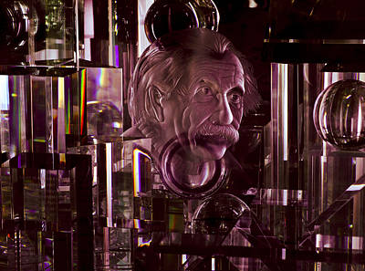 Einstein In Crystal - Purple Poster