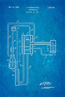 Einstein Refrigerator Patent Art 1930 Blueprint Poster by Ian Monk