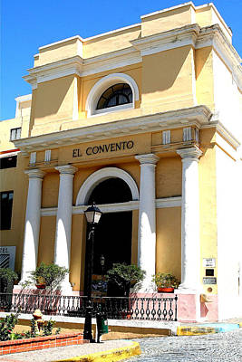 Poster featuring the photograph El Convento Hotel by The Art of Alice Terrill
