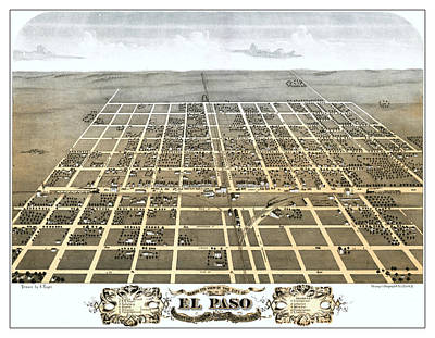 El Paso Illinois 1869 Map Poster by Stephen Stookey
