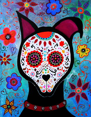 El Perro Day Of The Dead Poster by Pristine Cartera Turkus