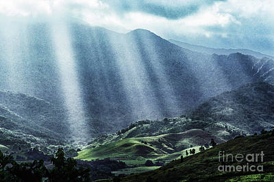 El Yunque And Sun Rays Poster by Thomas R Fletcher