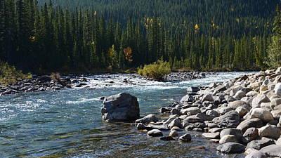 Elbow River Rock Art Poster