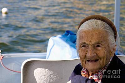 Elderly Woman, Italy Poster