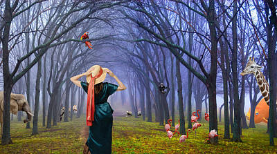 Eleanor Quillin's Magic Hat Poster by David Clanton