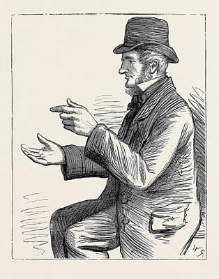 Election Sketches Argument 1880 Poster