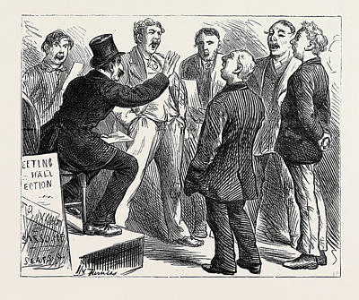 Election Sketches Jingoes Rehearsing Rule Britannia 1880 Poster