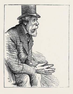 Election Sketches Unconvinced 1880 Poster by English School