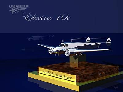 Poster featuring the digital art Electra 10e by John Pangia