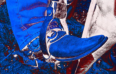 Electric Cowboy Boot Poster