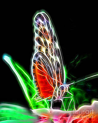 Electric Butterfly Poster