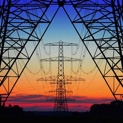 Electric Coloured Sky Poster by Riekus Reinders