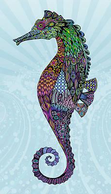 Electric Gentleman Seahorse Poster by Tammy Wetzel