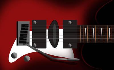 Electric Guitar Poster by Mark Ashkenazi