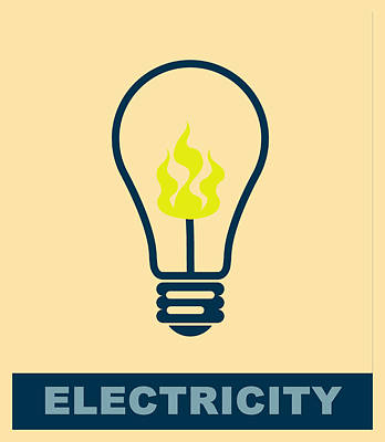 Electric Lamp Poster